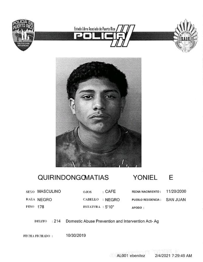 Yoniel Quirindongo Matías, de 20 años, fue asesinado a balazos mientras transitaba en un vehículo junto a Gabriel J. Román Flores de 21 años, por la avenida Las Américas, en Hato Rey.