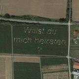 Insólita propuesta matrimonial se puede ver en Google Maps