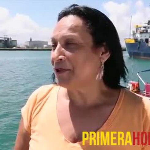 Como en otro mundo la pescadora Ana Ortega