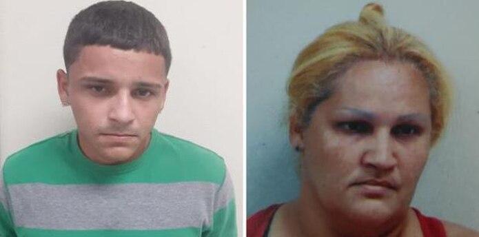 Contra Rafael Orlando Martínez Mercado, de 23 años, pesaba una orden de arresto por Ley 54. Mientras que Aracelis Mercado Quiñones, de 41 años, madre del joven, fue detenida por obstrucción a la autoridad pública. (Suministradas)