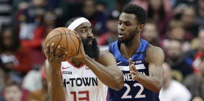 James Harden es el séptimo jugador más joven en la historia de la NBA en llegar a los 20,000 puntos en su carrera. (AP / Michael Wyke)