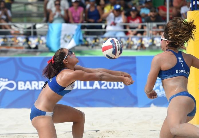 Allanis Navas y María González vencieron a la dupla nicaragüenses Swan Mendoza y Socorro López.