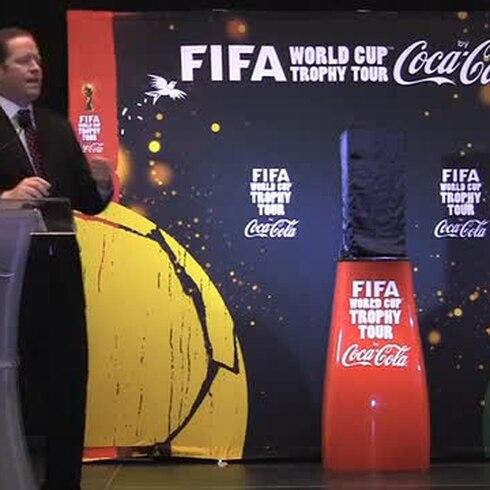 En Puerto Rico el Trofeo de la Copa Mundial de la FIFA