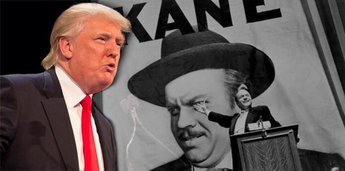 """Como en la película """"Citizen Kane"""" (inspirada, a su vez, en el magnate William Randolph Hearst), Donald Trump nació en una familia de clase media, concretamente el 14 de junio de 1946 en Queens, en Nueva York, para luego convertirse en un megalómano gurú cuyo fan número 1 es él mismo."""