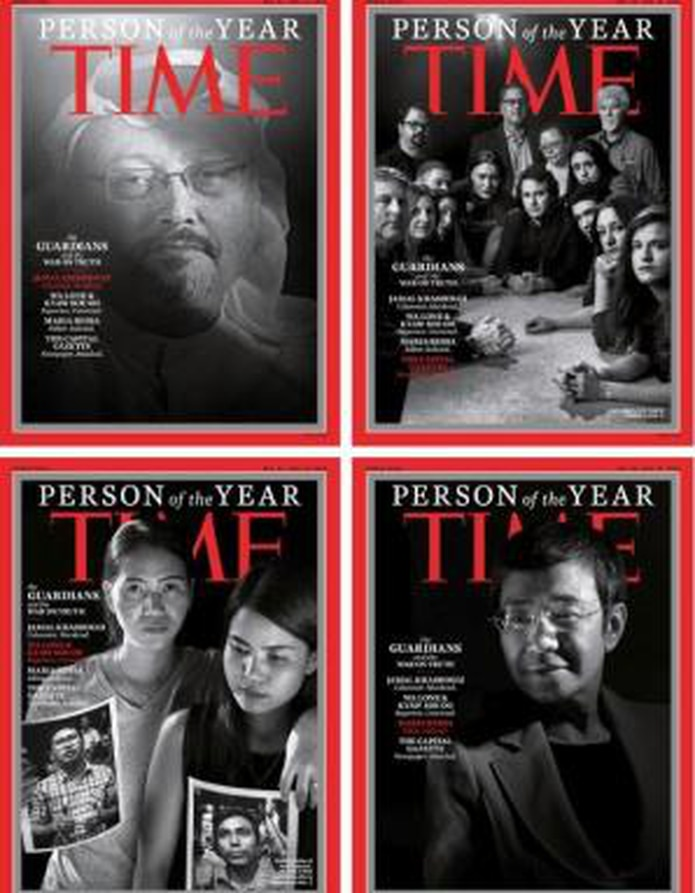 "Portadas de la revista ""Time"" sobre la Persona del Año. (Twitter / @TIME)"