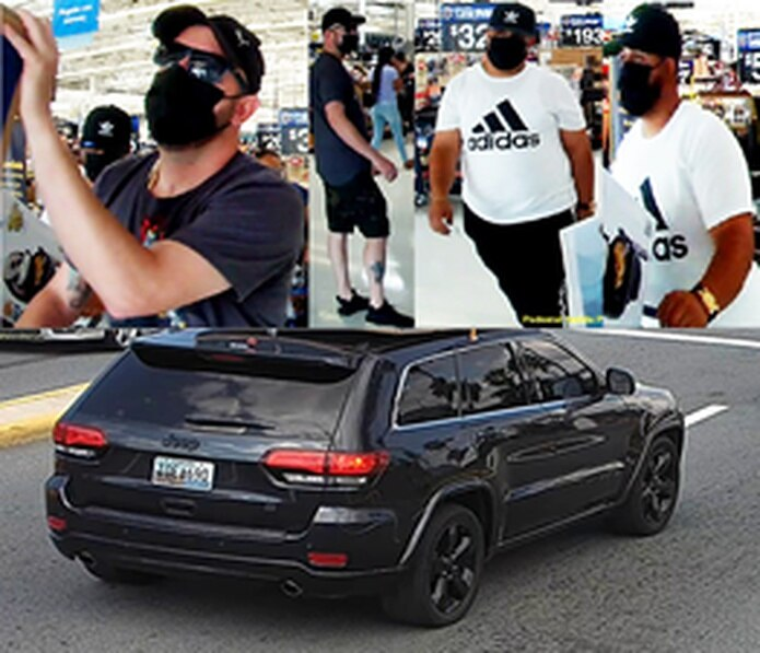 Las autoridades distribuyeron las imágenes de dos sospechosos de robar tarjetas de crédito del interior de vehículos para comprar mercancía en las tiendas Walmart de Toa Baja y Bayamón.