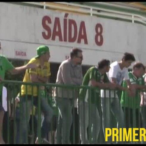 Estadio de Chapecoense sirve de refugio para familiares de las víctimas del accidente