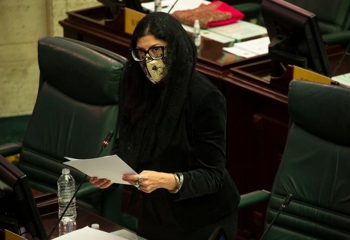 La representante Mariana Nogales, del Movimiento Victoria Ciudadana.
