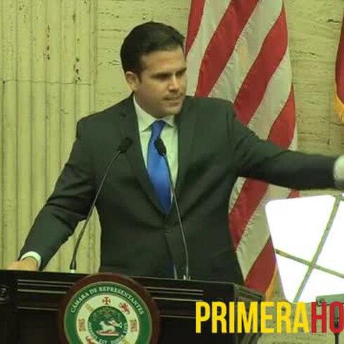 Mensaje de Ricardo Rosselló en sesión inaugural de la Cámara