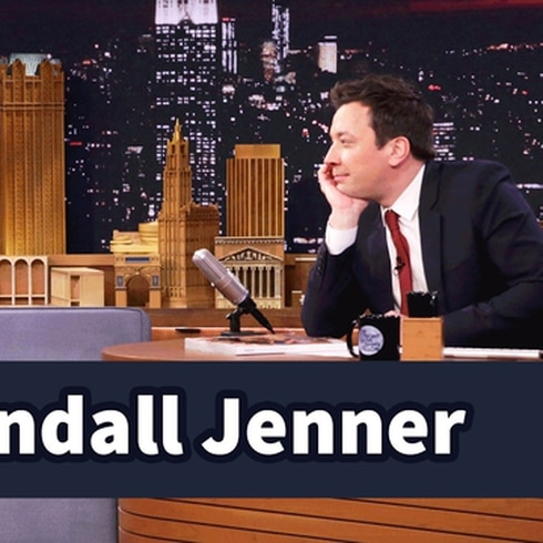 "Kendall Jenner  ""convirtió""  a Jimmy Fallon en modelo"