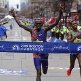 El keniano Cherono y la etíope Degefa ganan maratón de Boston