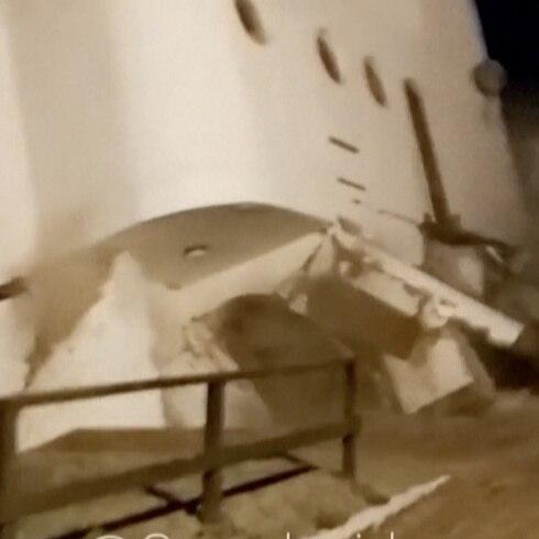 Residencia entera cae al mar en Argentina