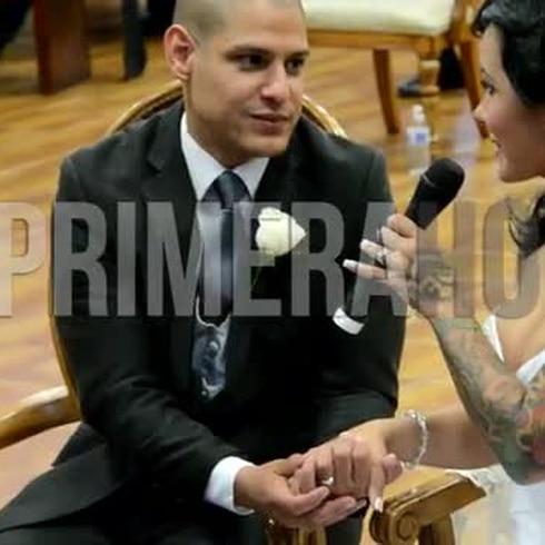 Marjorie Núñez feliz al casarse
