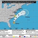 Arthur causará inundaciones en Carolina del Norte