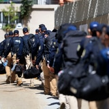 Fuerte presencia policíaca para mensaje de la gobernadora