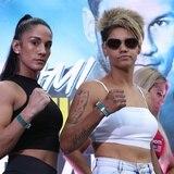Amanda Serrano hace el peso para su pelea