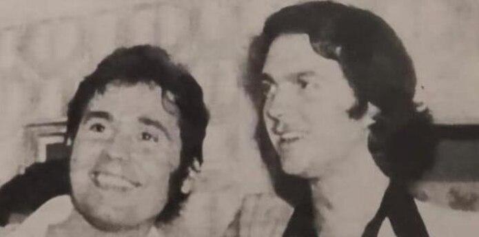 Raphael junto a Camilo Sesto en una foto de archivo. (Suministrada)