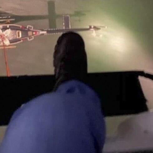 Así removieron el helicóptero de FURA de una playa en Piñones