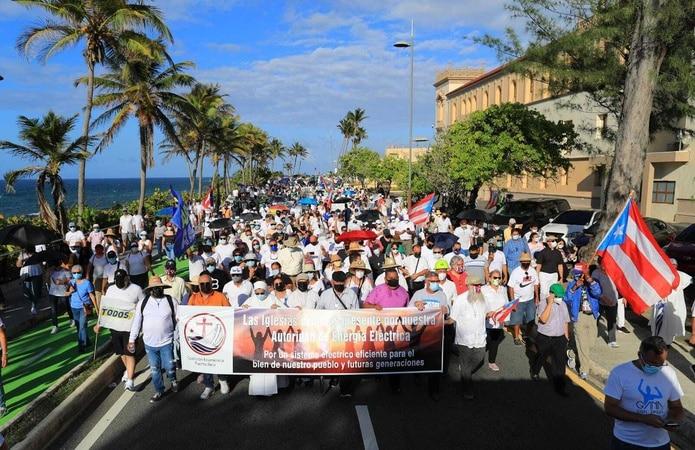 La marcha hizo una parada en el Capitolio.