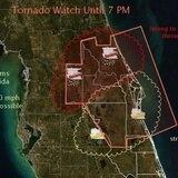 Alerta de tornados en la Florida Central