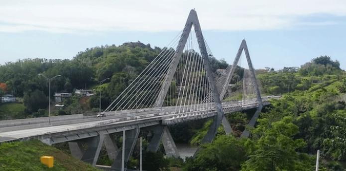 El puente atirantado tendrá luces LED. (Suministrada)