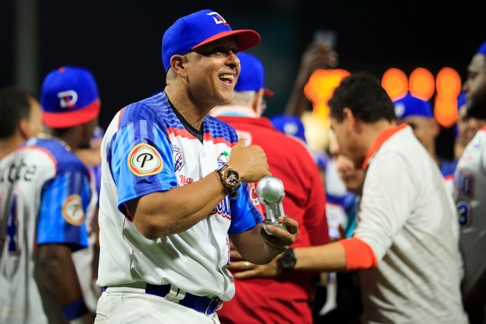 El boricua Lino Rivera viene de ganar la Serie del Caribe en el estadio Hiram Bithorn con los Toros del Este de República Dominicana. (Tonito Zayas)