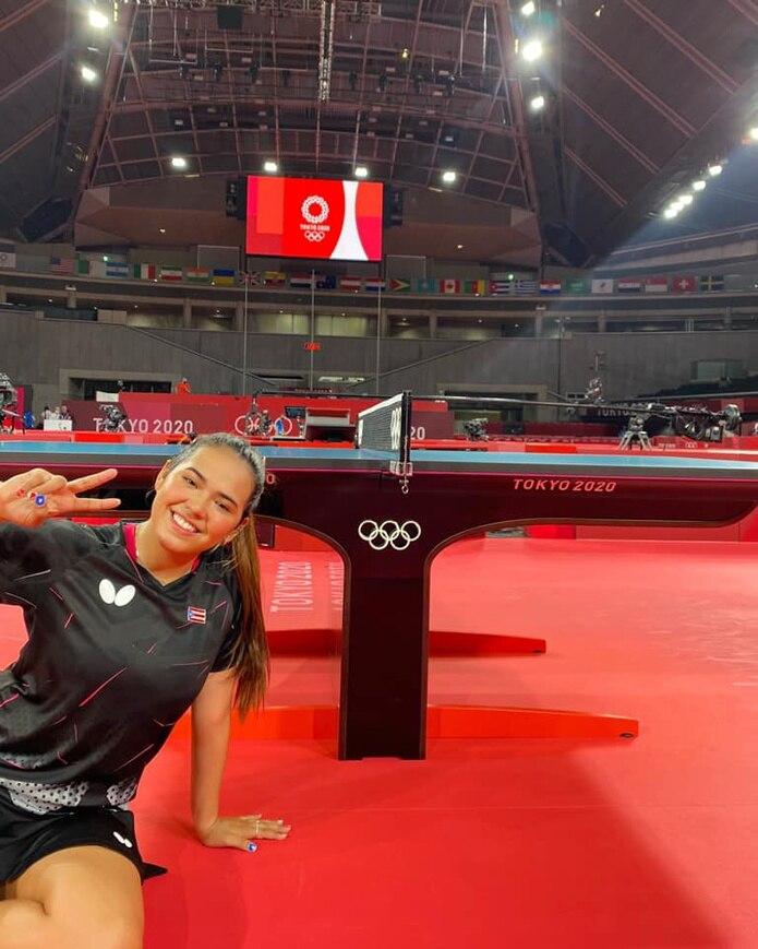 Adriana Díaz no ha salido del centro de entrenamiento del tenis de mesa durante los pasados dos días.
