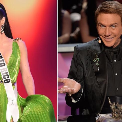 Osmel Sousa destaca el traje de Estefanía en la preliminar de Miss Universe