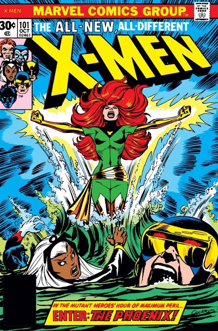 """El Fénix extendió sus alas por primera vez en 1976, en el número 101 de """"Uncanny X-Men"""", con guion de Cris Clearmont y pincel de Dave Cockrum. (Captura)"""