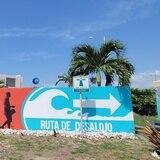 Inauguran mural para concienciar sobre ruta de desalojo