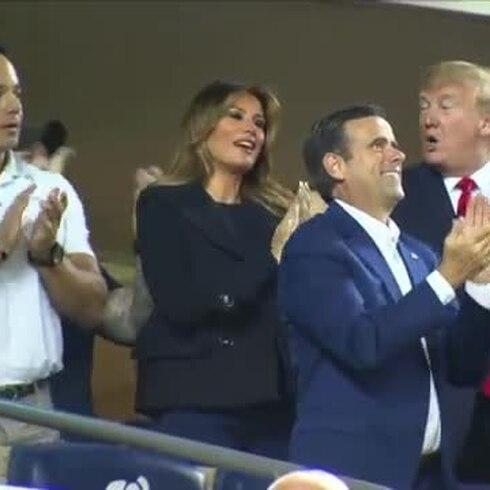 Gritos de protesta contra Trump en la Serie Mundial