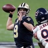 A escena otro duelo entre Drew Brees y Tom Brady en la postemporada de la NFL