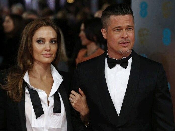La pareja de la noche lo fue Angelina Jolie y Brad Pitt. (AFP)