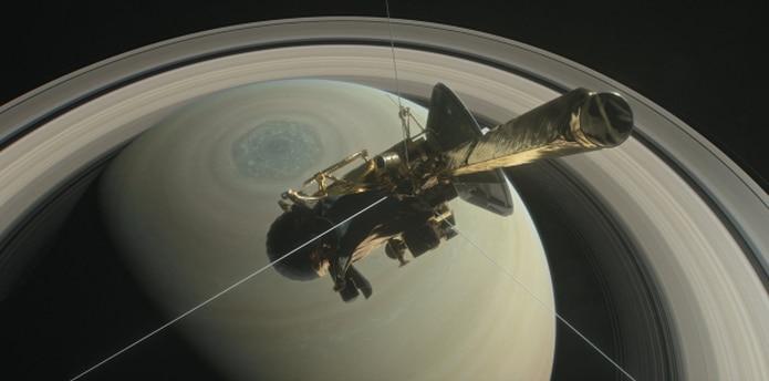 La sonda Cassini está en órbita alrededor de Saturno desde 2004. (EFE / Nasa / Jpl-Caltech / Space Science)