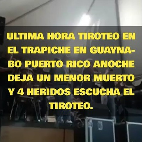 Video del tiroteo donde matan menor en Guaynabo