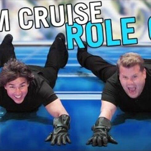 Tom Cruise y James Corden
