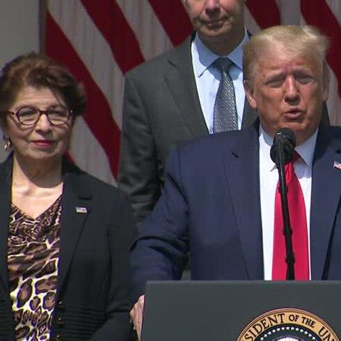 Controversial alegación de Trump sobre la pandemia