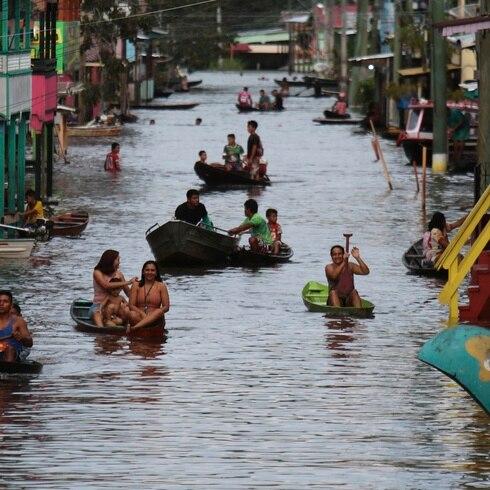 Inundaciones azotan región de Amazonía brasileña