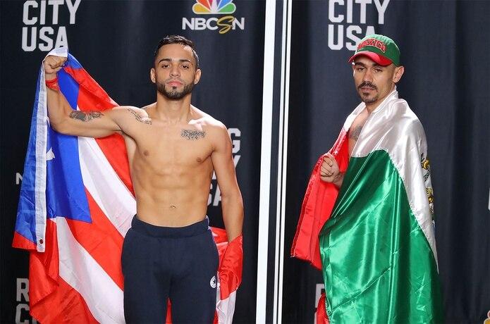 Oscar Collazo (izquierda) y al mexicano Francisco Bonilla detuvieron la romana en 111.6 libras.