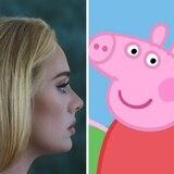 Adele se arrepiente de rechazar colaboración musical con Peppa Pig