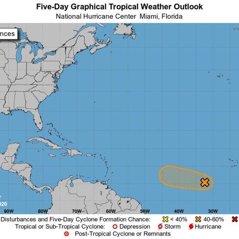 La hora del tiempo: onda tropical con posibilidad ciclónica en el Atlántico
