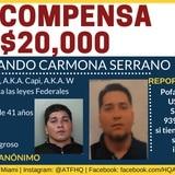 Federales ofrecen recompensa de $20,000 por información sobre peligroso fugitivo