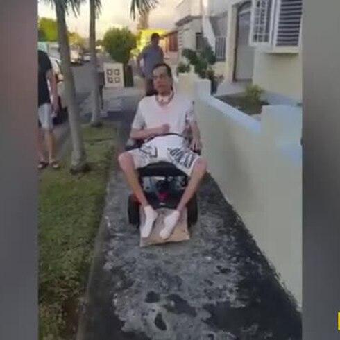 Arnaldo Cristóbal estrena su silla de ruedas motorizada
