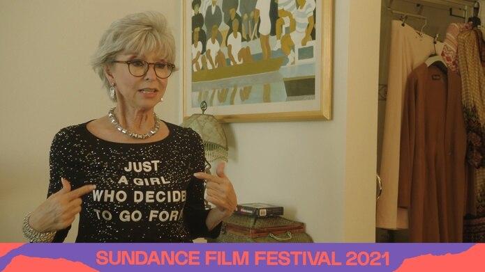 Arte oficial del documental de Rita Moreno en Sundance.