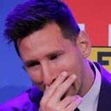 """Messi no logra contener el llanto: """"Fue muy triste, duro"""""""