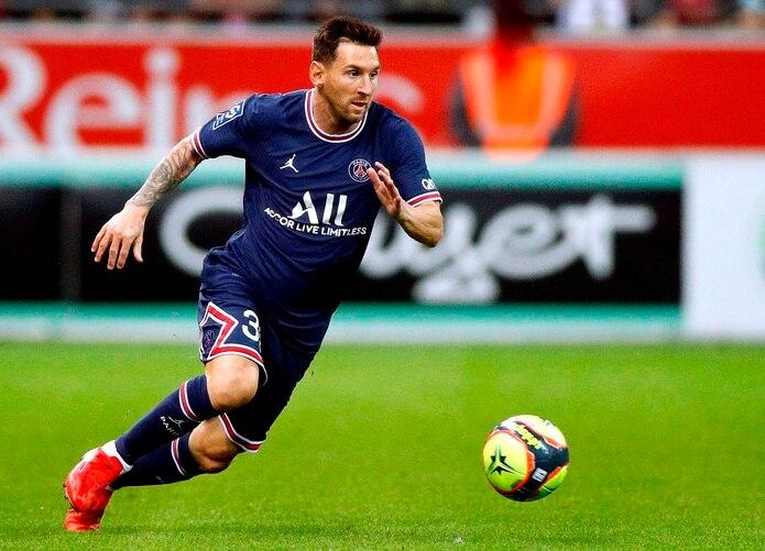 Lionel Messi jugó hoy su primer partido con el Paris Saint Germain.