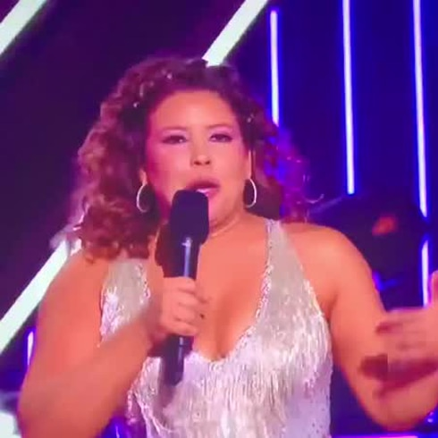 Justina Machado reacciona tras bailar en Dancing with the Stars