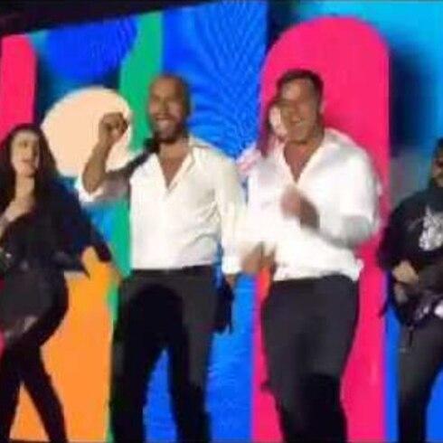 Ricky Martin y Amaury Nolasco bailan 'Claridad'